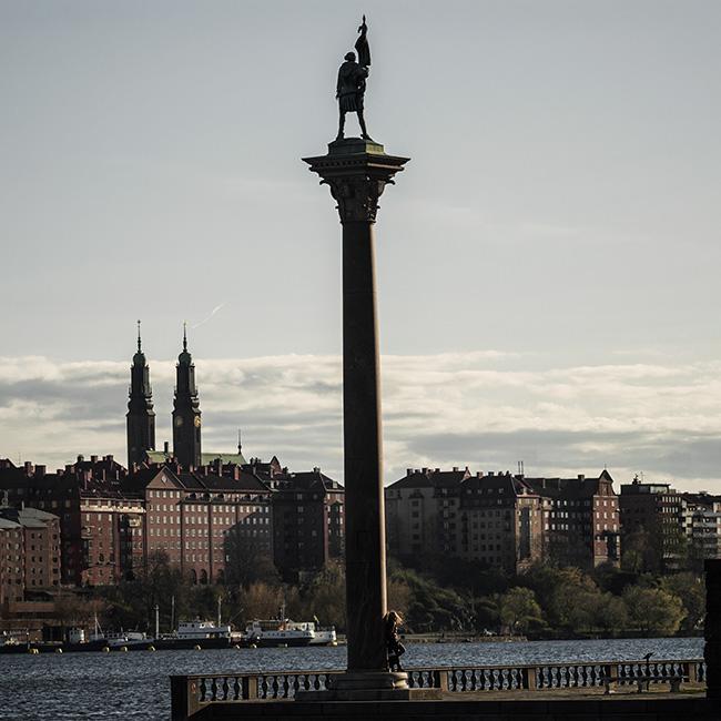 Vue sur le quartier de Hornstull depuis l'hôtel de ville de Stockholm.