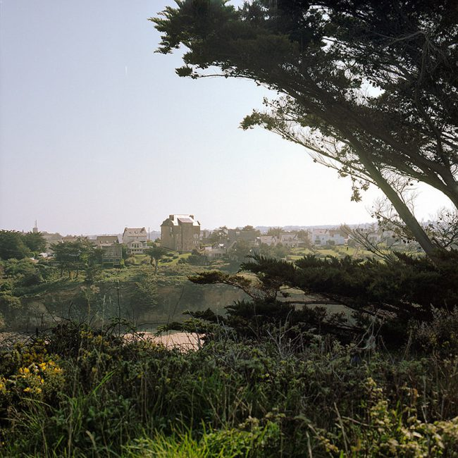 View from the heights of Dahouët from the coastal footpath, Brittany