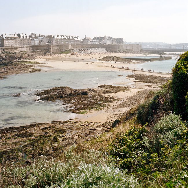 The city of Saint-Malo from the Grand Bé island, Brittany