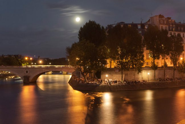 Place Louis Aragon by a summer evening in Paris