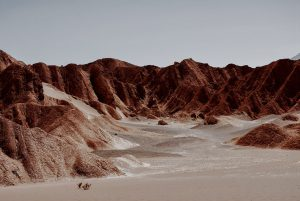The lunar landscape of the Atacama Desert is located in northern Chile.