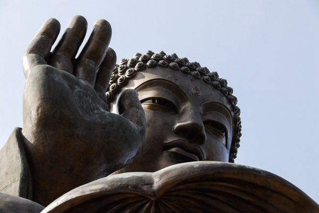 The giant Tian Tian Buddha of Lantau Island in Hong Kong.