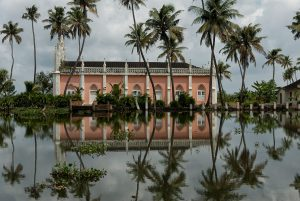 Lost church in the backwaters of Kottayam, South India.