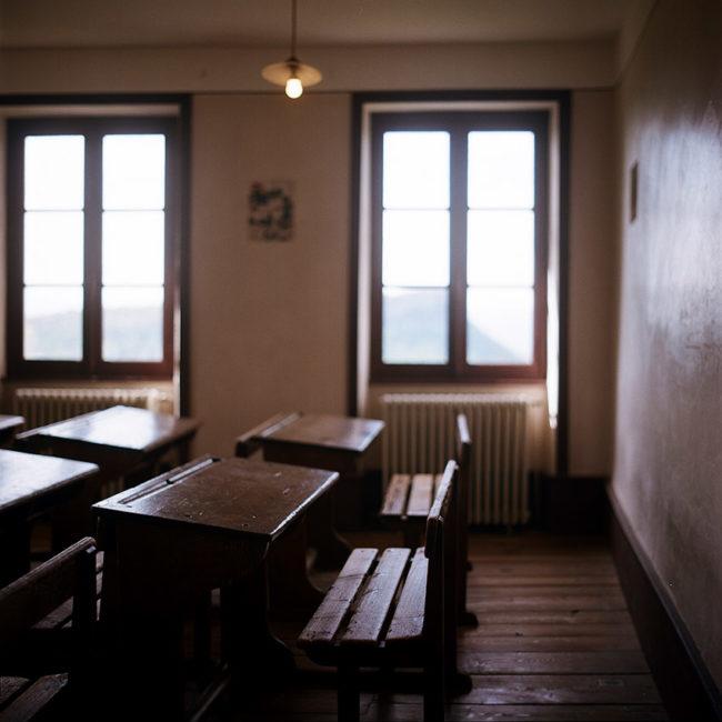 Izieu's memorial classroom