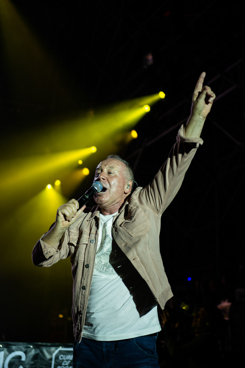 Simple Minds's Jim Kerr singer on stage