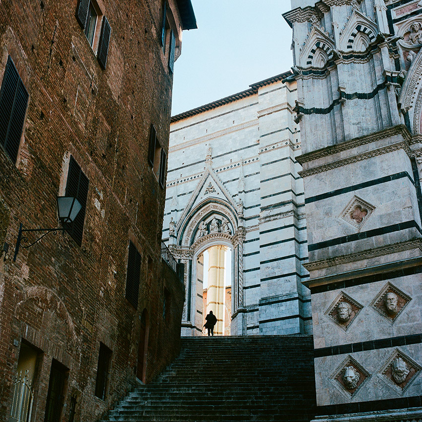 Behind Siena Cathedral