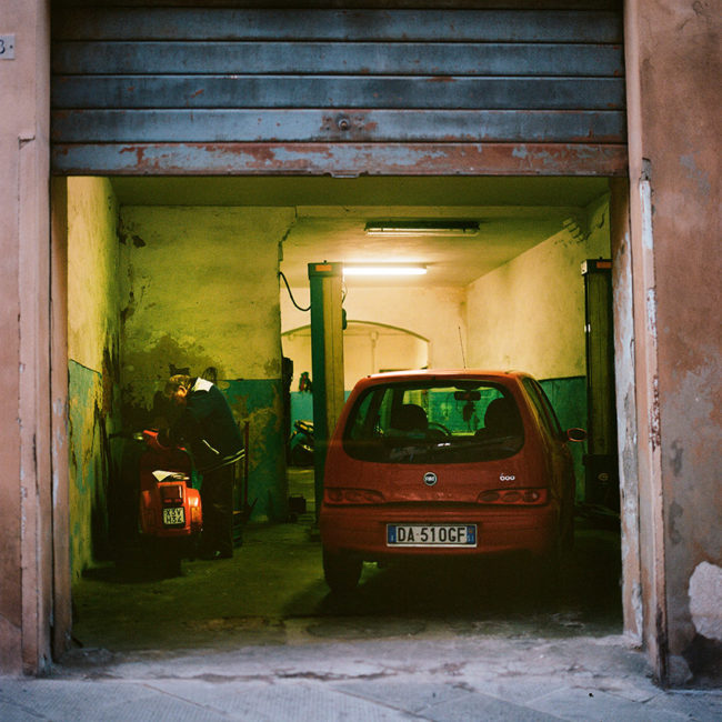 The typical Sienese garage