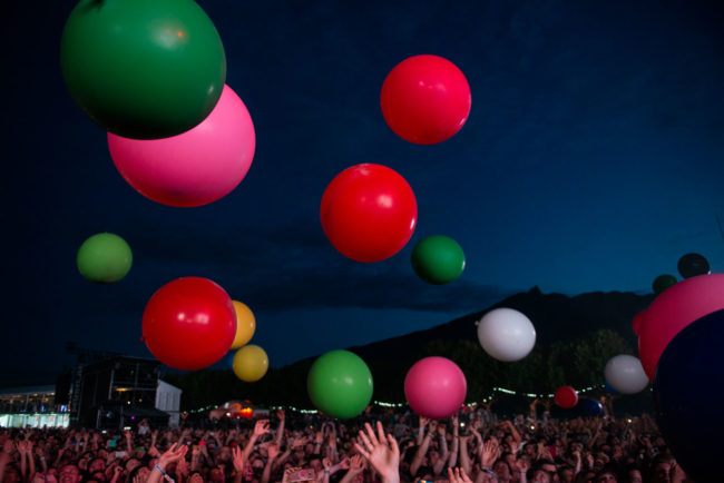 The colorfull balloons at Musilac 2019