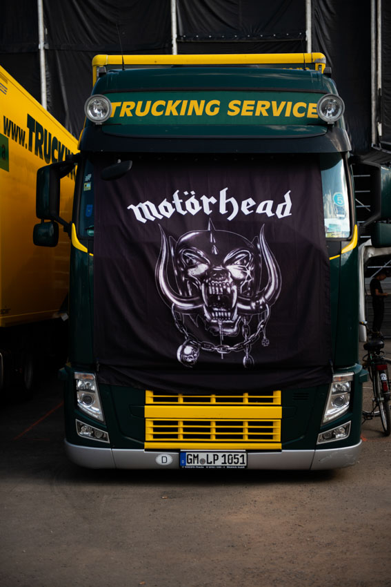 The truck with the Motorhead's flag