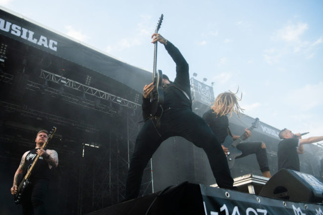Mass Hysteria on stage at Musilac 2019