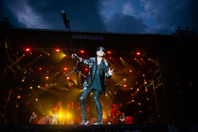 Scorpions's singer on stage at Musilac 2019