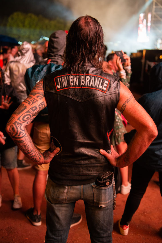 « Je m'en branle » leather jacket guy at Musilac 2019