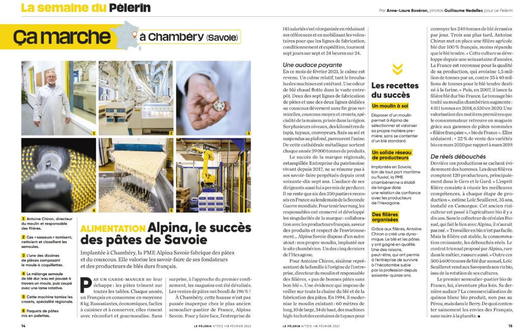 Commande reportage le Pèlerin - Février 2021