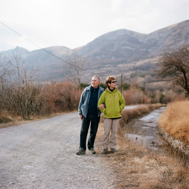 Portrait of Yves and Patricia, retirees living in Gap.